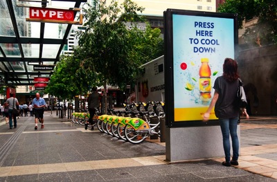 Brand activation: Lipton Ice tea misting stations