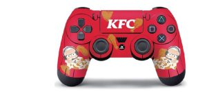 gaming console with KFC stickers
